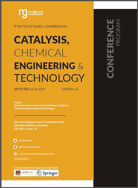 5th Edition of Global Conference on Catalysis, Chemical Engineering & Technology Program